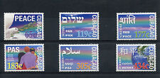 More details for curacao 2014 mnh peace 6v set dove shalom pax paix pace stamps