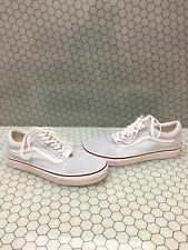 VANS Old Skool Baby Blue Canvas/Suede Lace Up Skate Shoes Men Size 8.5  Women 10