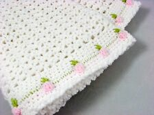 CROCHET PATTERN to make a ROSEBUD BABY BLANKET, SOFT, WARM & PRETTY  ref p33