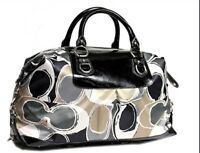 NWT Coach Ashley Hand Drawn Scarf Print Satchel LG 2 Way Tote F17656 MSRP $498