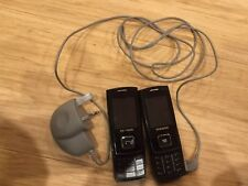 2 X Samsung SGH E900 - Black (Unlocked) Mobile Phones