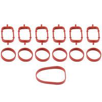 6pcs Intake Manifold Gaskets Inlet Sealed Repair Kit for E39 E46 E38 E53 Red