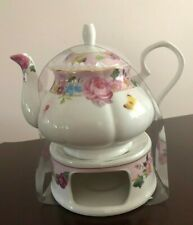 Pink Floral  Teapot And Warmer -Grace's Teaware _ Brand New