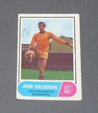 A & BC GUM CARD FOOTBALL ENGLAND 1969 J HOLSGROVE WOLVERHAMPTON WANDERERS WOLVES