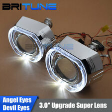 3.0'' Upgrade LED Angel Eyes Demon Eyes HID Bi-xenon Headlight Projector Lens