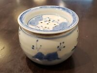 Chinese Blue and White Porcelain Ginger Jar (Cricket House )