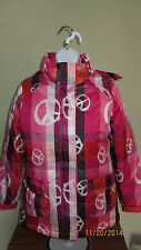 Youth Girls XL 14 12 Old Navy Full Zip Hoodie Parka Coat Peace Sign Double Layer