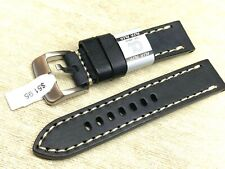 Euro Alfa Genuine calf leather 22mm watch band fits many brands