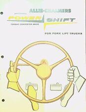 Allis-Chalmers Power Shift for Fork Lift Trucks Ad Brochure 1950s Erie Pa