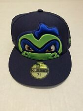 New Era 59Fifty Vermont Lake Monsters Diamond Fitted Hat Cap Size: 7 3/8