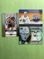Connor Mcdavid Edmonton Oilers 3 Card Lot UD Tim's Game Day Profiles All Star