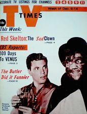 TV Guide 1962 Regional Dobie Gillis Bob Denver From Gilligan's Island TV Times