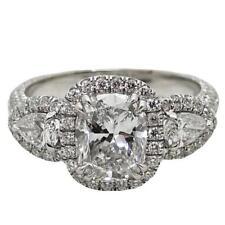 2.50 Carat GIA Certified 18k White Gold Cushion Cut Diamond Engagement Ring