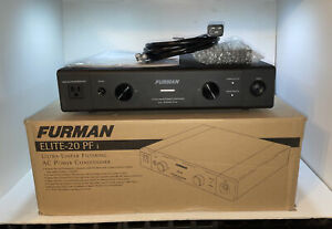 Furman - ELITE-20 PFi Ultra Liners Filtering AC Power Conditioner W Box & Manual