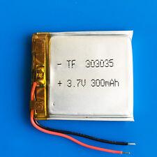 3.7V 303035 Li Po Battery 300mAh for Mp3 Mp4 GPS Headphone Bluetooth Smart Watch