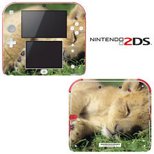Vinyl Skin Decal Cover for Nintendo 2DS - Sleeping Baby Lion Cub