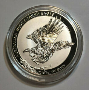 2015-P Australia 1 oz .999 Fine Silver Wedged-Tailed Eagle BU in Capsule