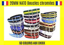 ★ Nato 20MM ★ Bracelet Montre Watch Band Strap Nylon Militaire Army bond 007