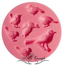 Pájaro De Silicona Molde Para Fimo Sugarcraft Cupcake Toppers Decoración De Pastel