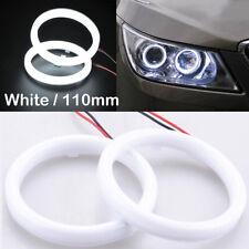 2pcs 110mm DRL COB LED Angel Eyes Halo Ring Fog Headlight Lamp Light White