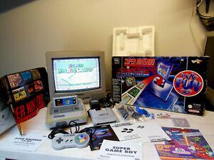 Console Super Nintendo 16 bit Controller Super Game Boy Super Mario World Boxato