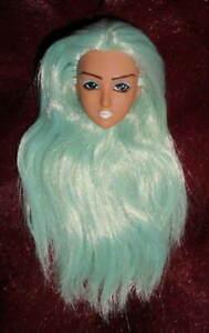 Obitsu Doll HEAD 1/6 27cm Coconuts Tan Sky Blue HAIR Custom Rooted Faceup RARE