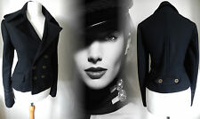 Vintage Coat Jacket Victorian Military Riding Style Black Wool NEW 12 40 US 8