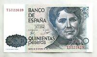 Spain-Billete. Rosalia de Castro. 500 Pesetas. 1979. SC/UNC