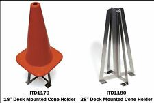 "Traffic Cone Holder deck mount In The Ditch ITD1179 for 18"" cones"