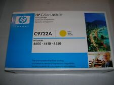 GENUINE HP C9722A Yellow Toner Cart LaserJet 4600 4610 4650 NEW OEM