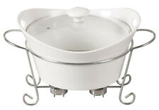 Ceramic Casserole 2 8l Food Bakeware Cookware Glass Dish Roaster Stand Warmer