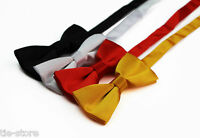 BOYS KIDS PLAIN BOW TIE PARTY WEDDING SCHOOL PAGEBOY BLACK WHITE RED BOWTIE
