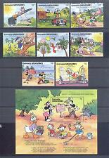 GRENADA GR.1991, Butterflies, Disney, set of  8 + 1SS, MNH** (186)