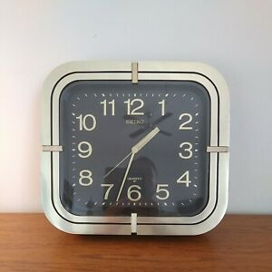 Rare Vintage Seiko Wall Clock  80s Golden Quartz Japan LARGE.