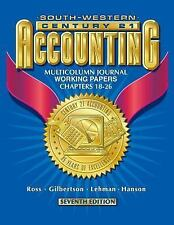 Century 21 Accounting 7E Multicolumn Journal Approach: Working Papers Chapters 1