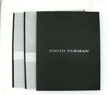 "Lot of 3 David Yurman Gift Bag Black 9 3/4"" L x 7 3/4"" W ~ New ~ Fast Shipping"