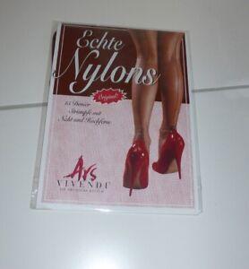Ars Vivendi Naht Nylons Nylonstrümpfe Cuban Heel Kupfer mit schwarze Naht Gr. S
