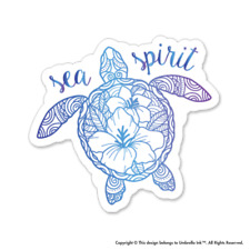 Sea Spirit Turtle Animals Sticker Funny Cute Decal Car Vinyl
