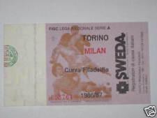 TORINO - MILAN BIGLIETTO TICKET 1986 / 87