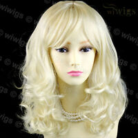 Wiwigs Stunning Vanilla Blonde Curly Medium Skin Top Ladies Wig