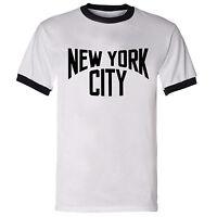Lennon inspired 'NEW YORK CITY' music America iconic men's big apple T Shirt
