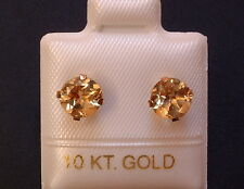 Exclusive Citrin Ohrstecker Ohrringe - 1,71 ct. - 10 Kt. Gold 417 - Brillant Cut