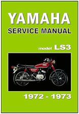 YAMAHA Workshop Manual LS3 100cc 1971 1972 & 1973 Maintenance Service & Repair