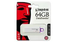 Pendrive 64GB Usb3.0 Kingston DT G4 Blanco/morado