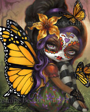 Jasmine Becket-Griffith art print SIGNED Sweet Isabella day of the dead monarch