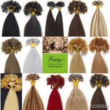 50/100S U Nail Tip Fusion Keratin Remy Human Hair Extensions Double Drawn Hair
