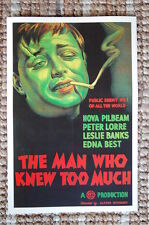 The Man Who Knew too Much Lobby Card Movie Poster Alfred Hitchcock  Nova Pilbeam