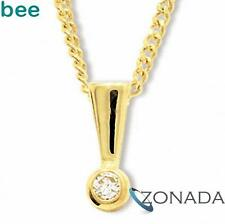 New Natural Diamond 9ct 9k Solid Yellow Gold Solitaire Pendant 60560/B03