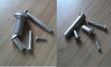 Halbrundnieten DIN 660,Senkkopfnieten DIN 661 Aluminium Al Alu Nieten Ø1-10mm
