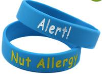 Nut Allergy Medical Alert Wristband Bracelet for children